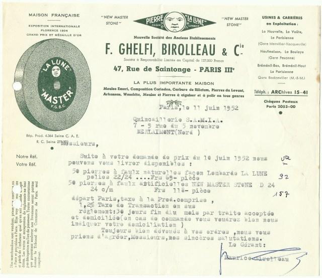 1952 F.Ghelfi, Birolleau & Cie
