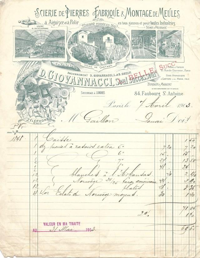 1903 L. Belle < D. Giovannacci < L.&B. Ghelfi 1