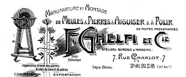 1906:12:11 F. Ghelfi et Cie, 7, Rue Charlot 1a1