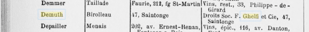 1923, Demuth Birolleau 47, Saintonge Droits Soc(...)Ghelfi et Cie, 47 ' Saintonge 1b
