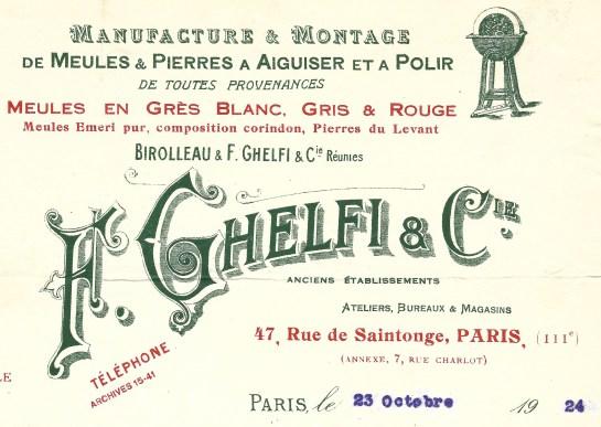 1924:10:23 F. Ghelfi & Cie 1a