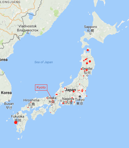 Japan Map all mines 1a