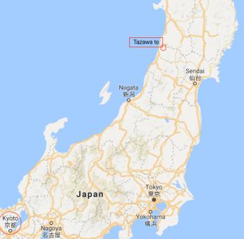 Tazawa to map 1a