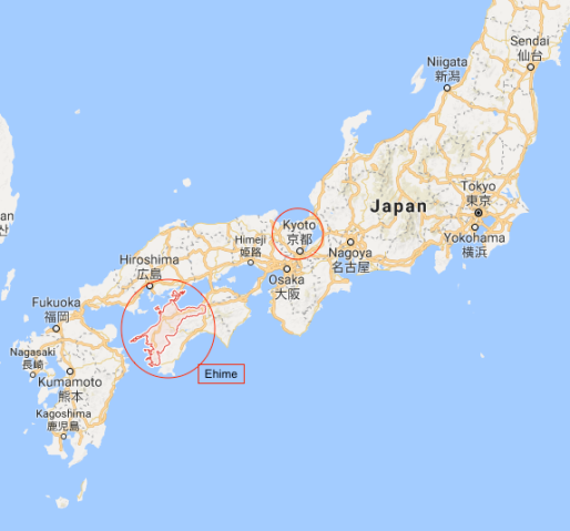 Iyo map 1a Ehime