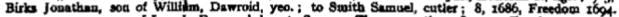 1694f jonathan, son of william, dawroid, yeo