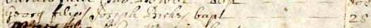 1698 Oct 28 Birkes George son of Joseph bap Ecclesfield 1b