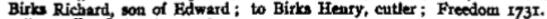1731f richard, son of edward