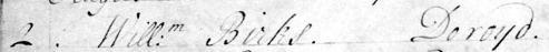 1745 Jul 02 William Birks Doroyd Burial 1b