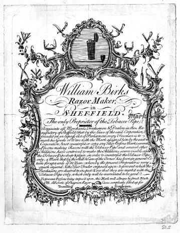 1750 (c.) Birks William, Sheffield 1750 (c.) 1a