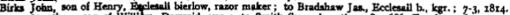 1814 john, son of henry, razor maker