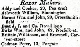 1816-17 Birks Wm. and John, 62, Norfolk-st.