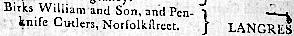 Birks William & son, Norfolkstreet
