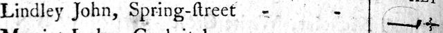 Lindley John, Spring-Street.JPG