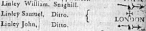 Linley William, Samuel, John, Snighill