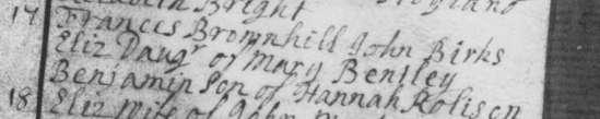 1746 Mar 17 Death John Birks 1b